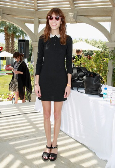 Alexa Chung wore Lacoste for the Lacoste desert pool party