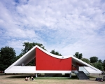The Serpentine gallery pavilion in Kensington Gardens, London.