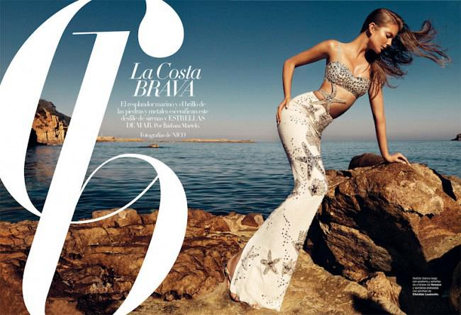 Eniko Mihalik by Nico (La Costa Brava - Harper's Bazaar Spain June 2012) 1