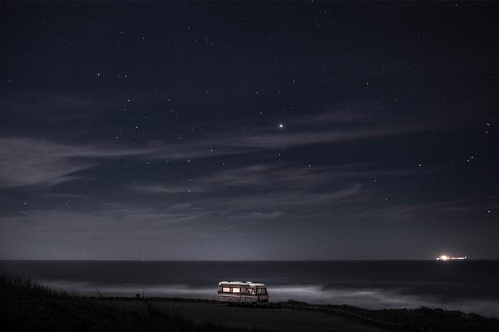 A Van In The Sea.