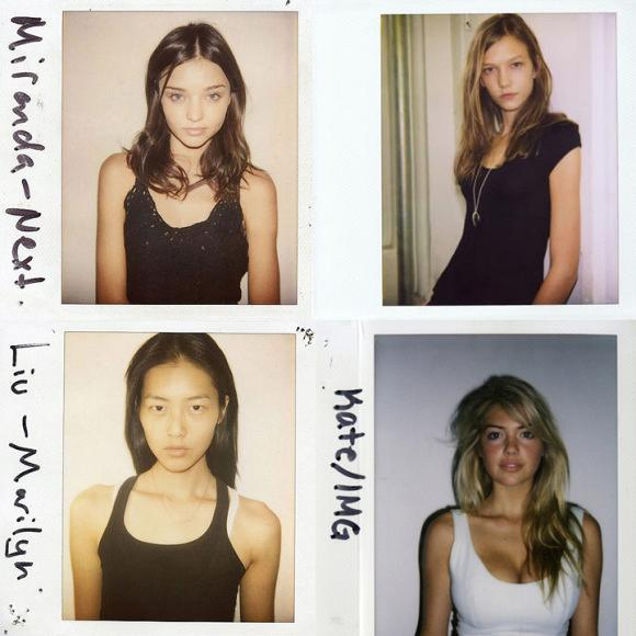 Models' Polaroids-No Makeup-This Is The Real Deal.